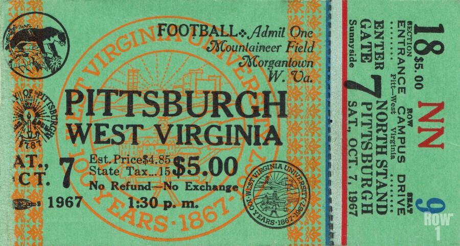 1967 West Virginia vs. Pitt  Print