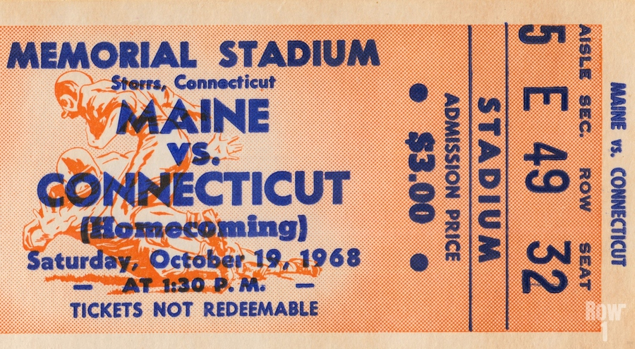 1968 Maine Black Bears vs. UConn Huskies  Print