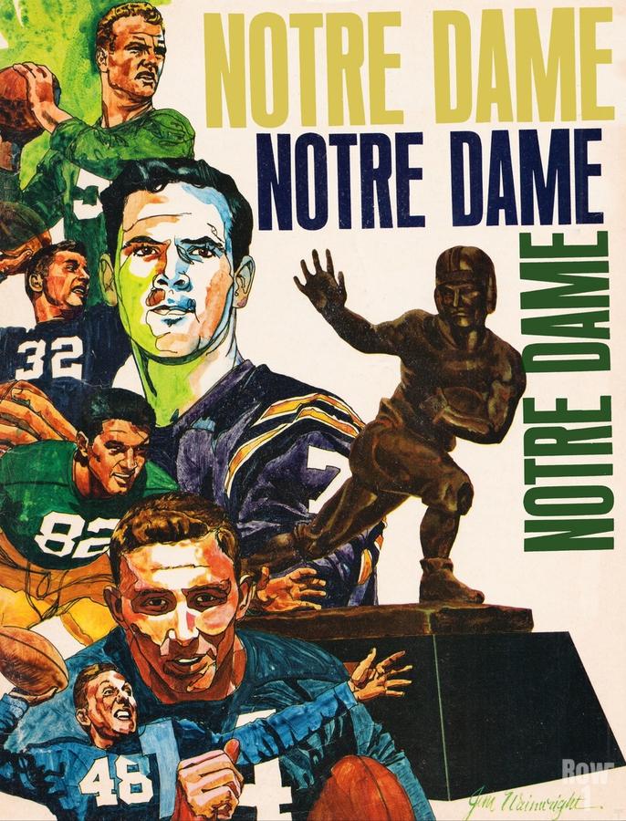 1968 Notre Dame Football Heisman Winner Art  Print