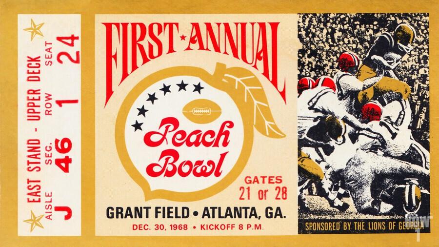 1968 First Peach Bowl LSU Win  Print