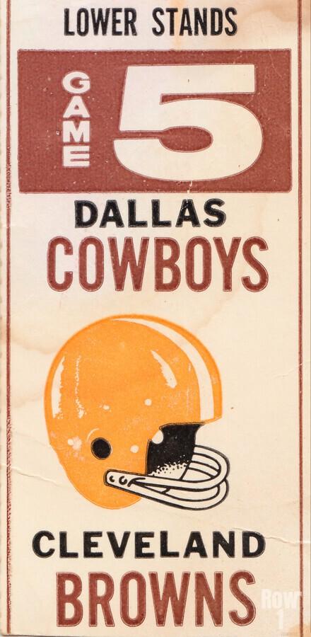 1969 Cleveland Browns vs. Dallas Cowboys  Print