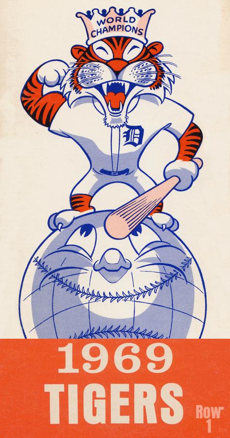 1969 Detroit Tigers Retro Baseball Art  Print