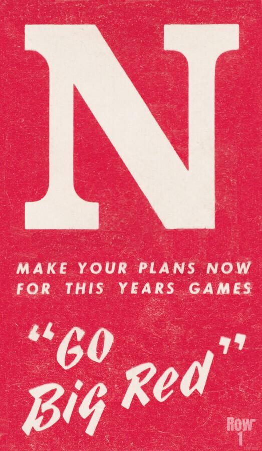 1969 Nebraska Football Art  Print