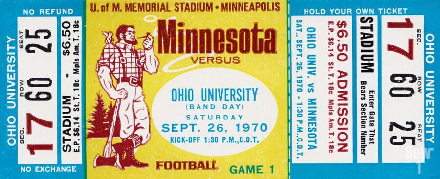 1970 Minnesota vs. Ohio  Print