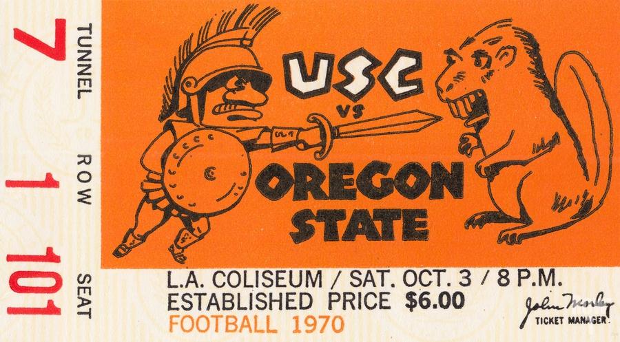 1970 USC Trojans vs. Oregon State Beavers  Print