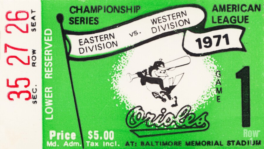 1971 Baltimore Orioles American League Championship  Imprimer