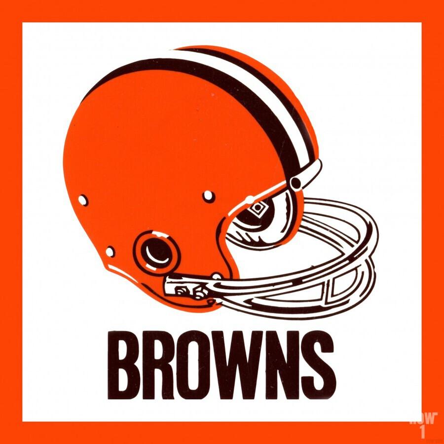 1971 Cleveland Browns Helmet  Print