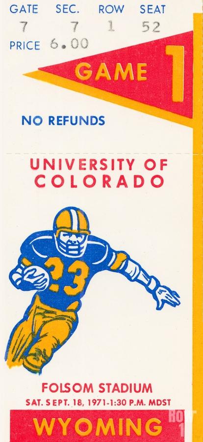 1971 Colorado Buffaloes vs. Wyoming Cowboys  Print