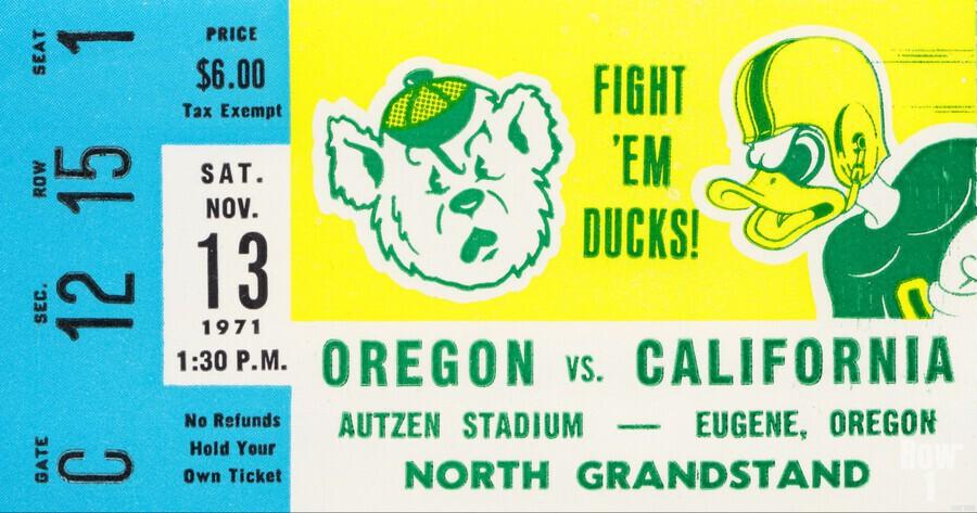 1971 California vs. Oregon  Print