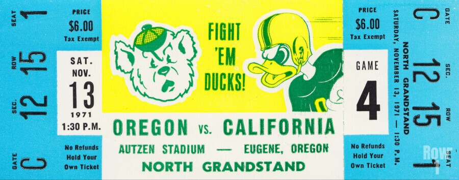 1971 Oregon vs. California  Print