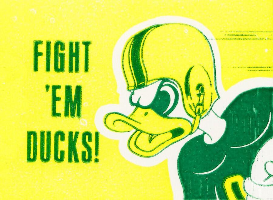 1971 Fight Em Ducks  Print