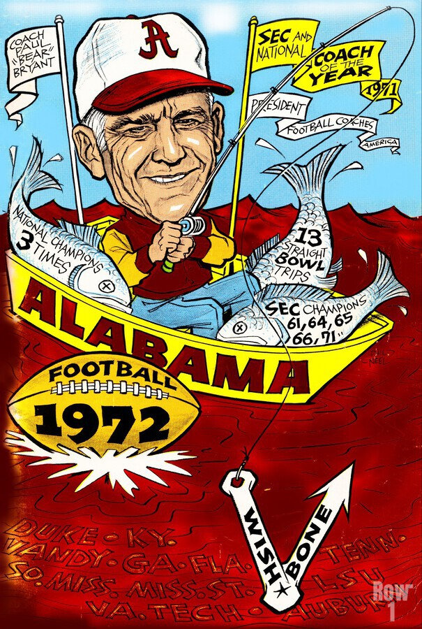 1972 alabama football  Print