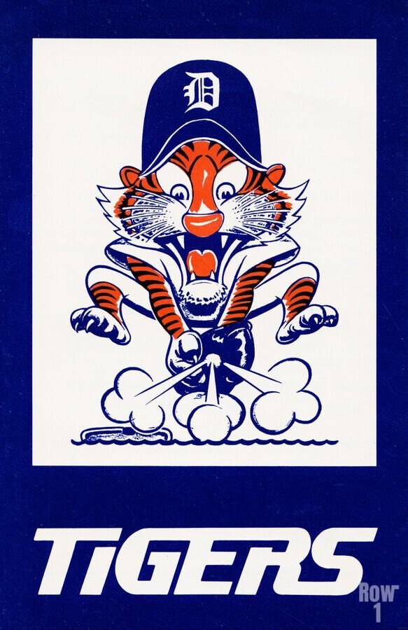 1972 Detroit Tigers Art  Print