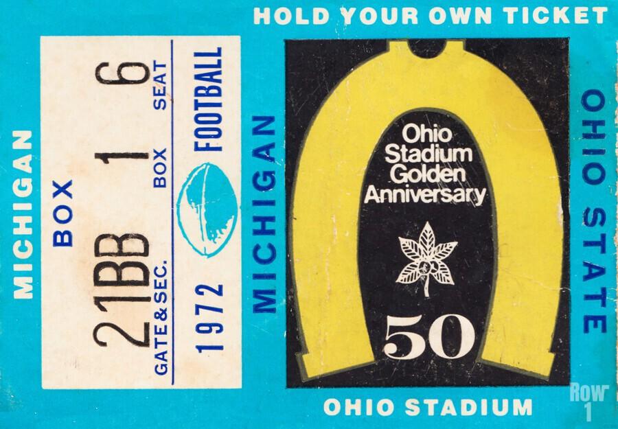 1972 Michigan vs. Ohio State  Print