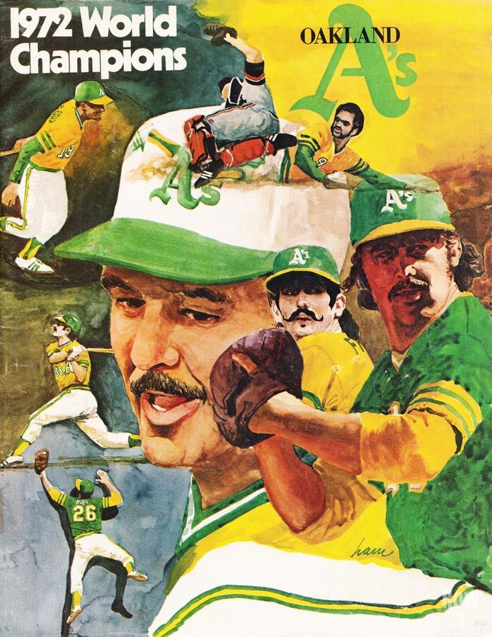 1972 Oakland Athletics World Champions Poster  Print