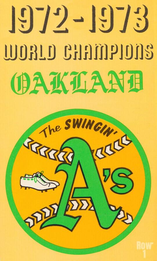 1972 Oakland Athletics World Champions  Print