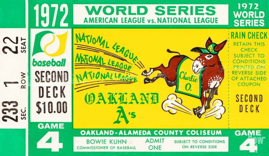 1972 world series oakland athletics  Print