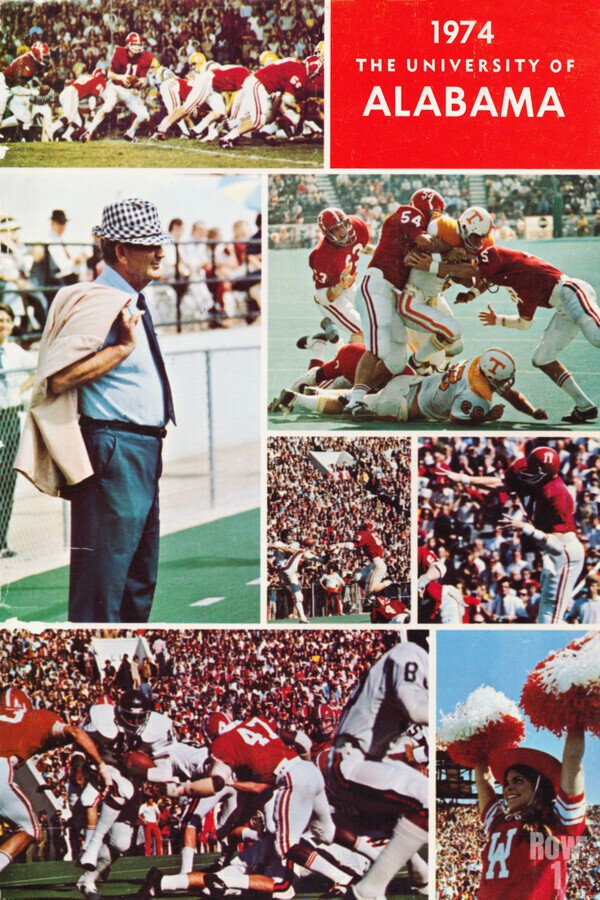 1974 Alabama Football Print  Print