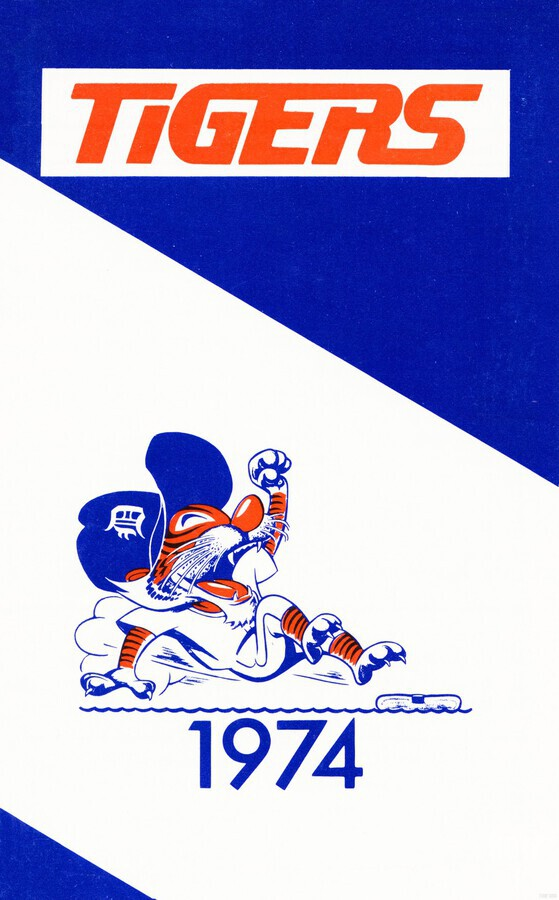 1974 Detroit Tigers Art  Print