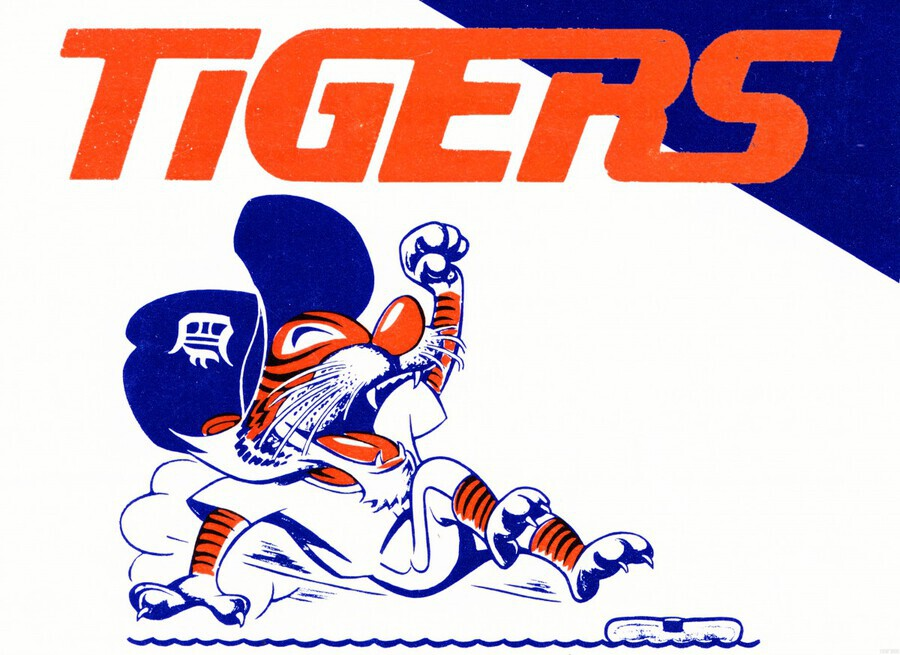 Tigers Cartoon  Print