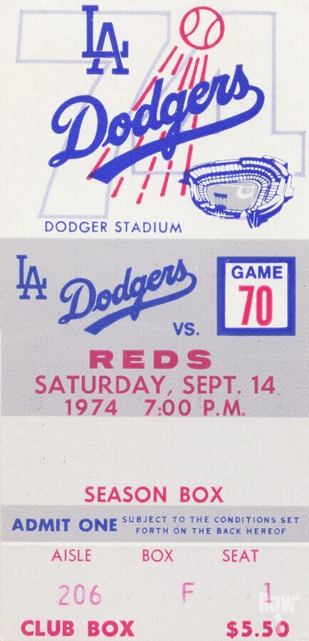 1974 LA Dodgers vs. Reds  Print