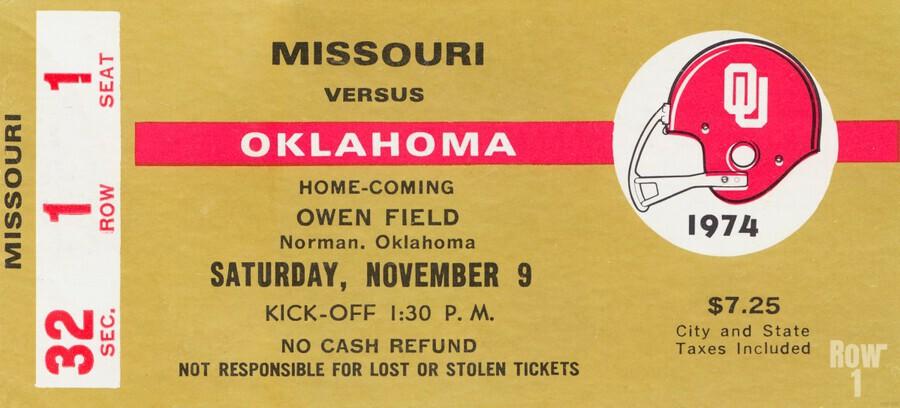 1974 Oklahoma vs. Missouri  Print