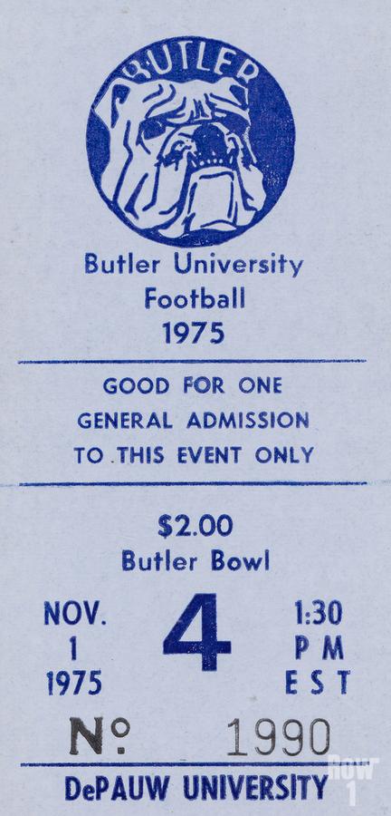 1975 Butler Bulldogs vs. DePauw  Print