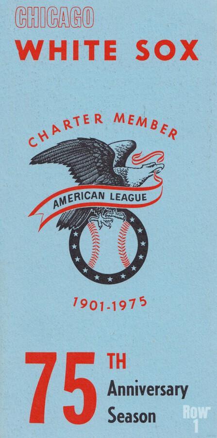 1975 Chicago White Sox Retro Poster  Print