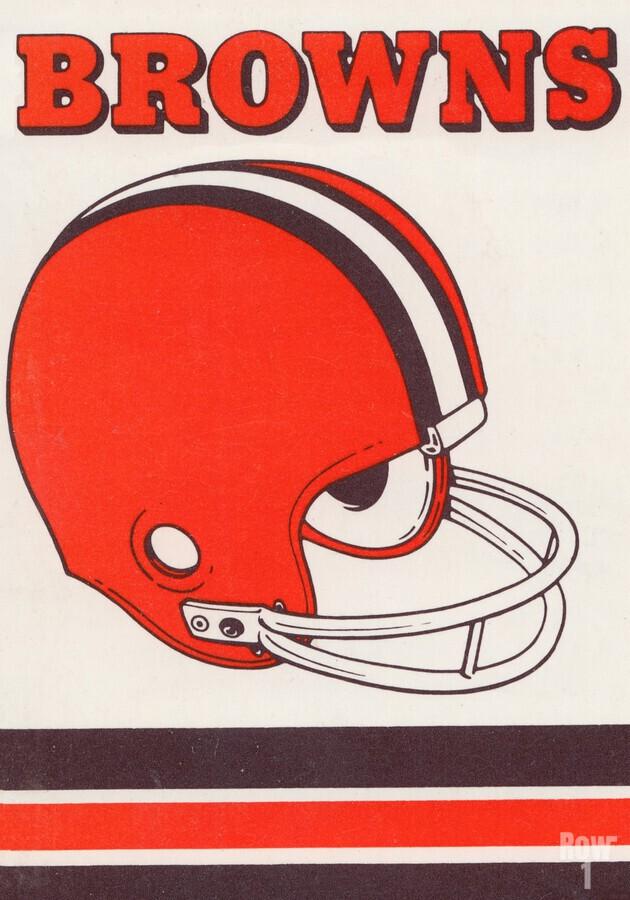 1975 Cleveland Browns Helmet Art  Print