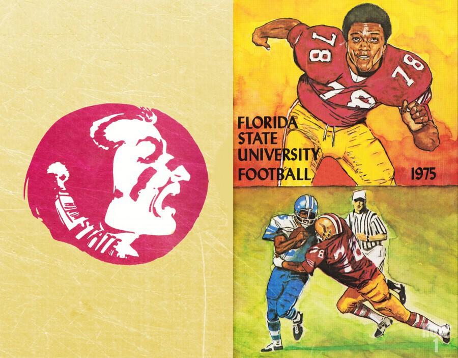 1975 Florida State Football Art  Print