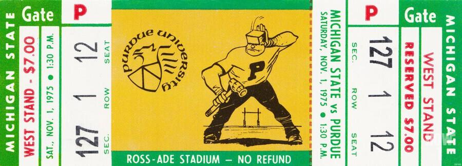 1975 Michigan State vs. Purdue  Print
