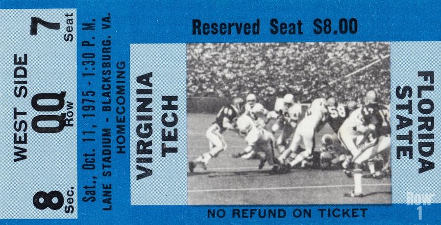 1975 Virginia Tech Gobblers vs. Florida State Seminoles  Print