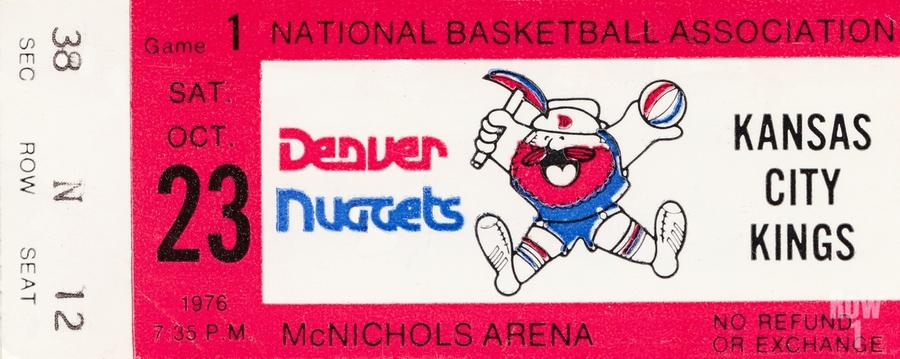 1976 Denver Nuggets First NBA Home Game  Print