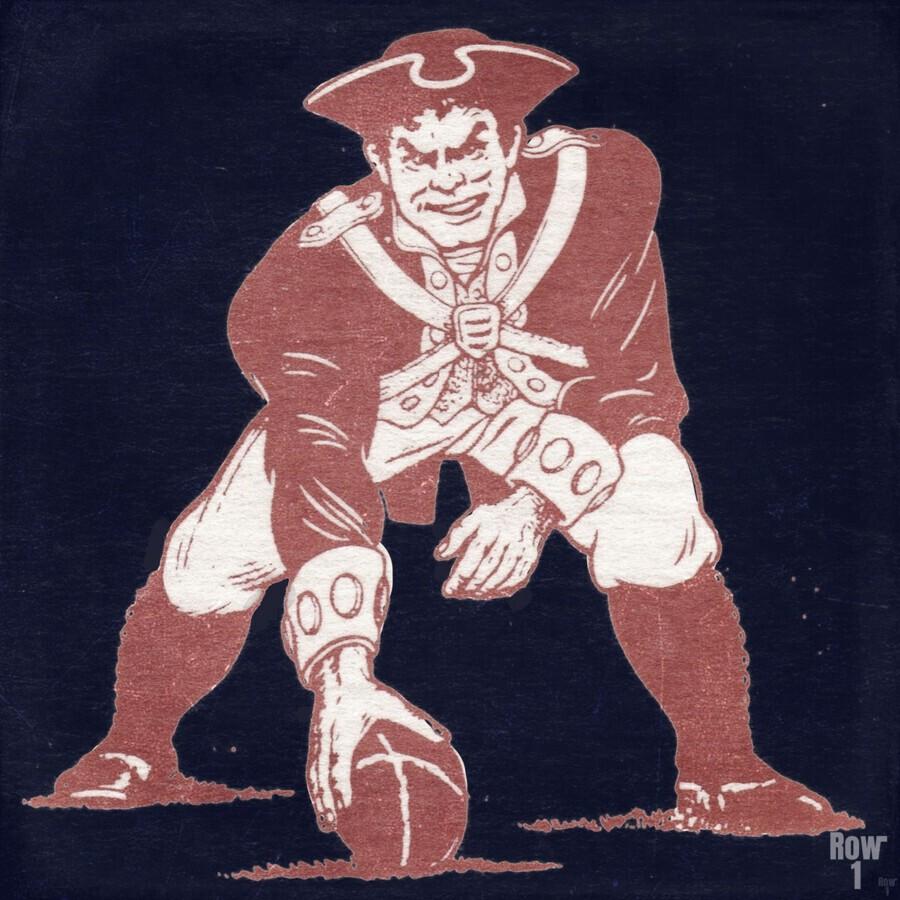 1976 New England Patriots Vintage Art  Print