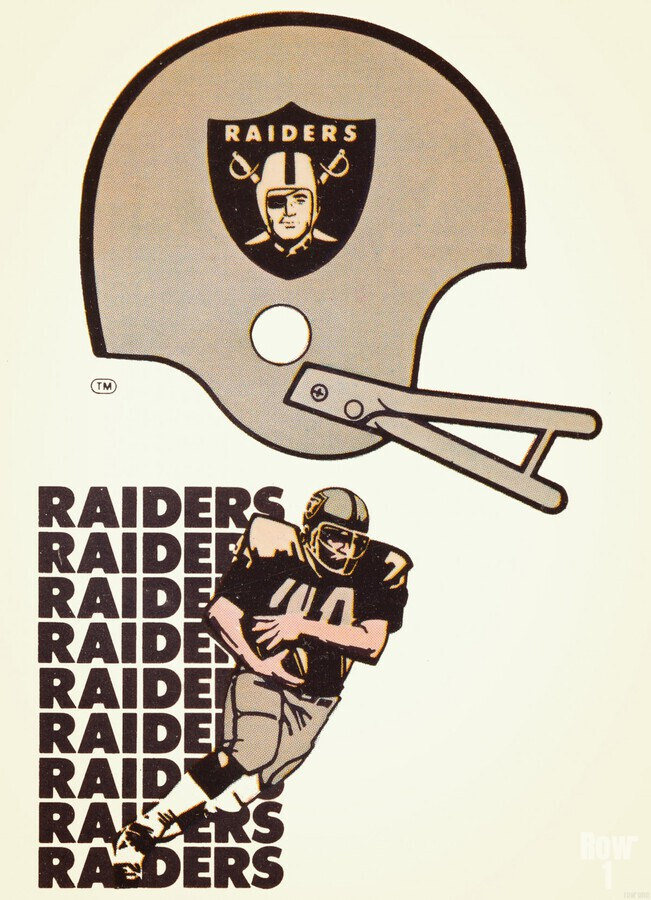 1976 Oakland Raiders Art  Print