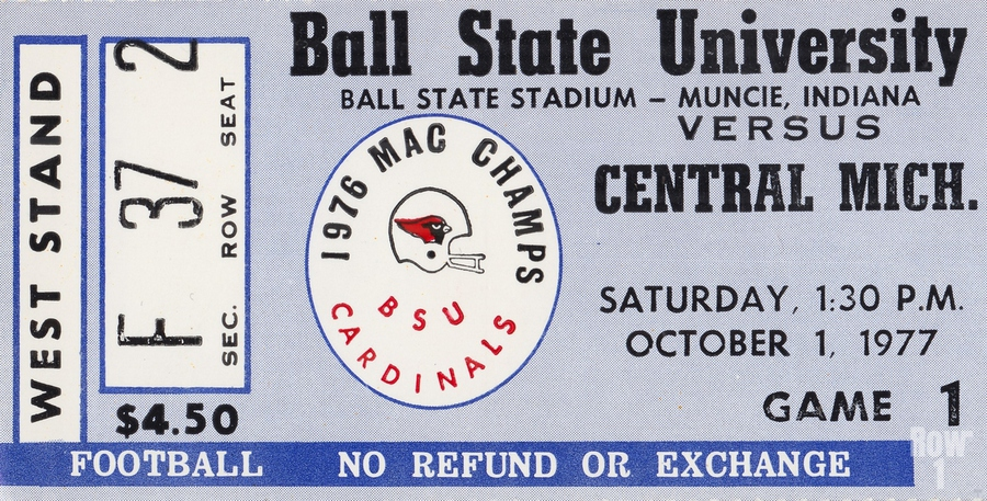1977 Ball State Cardinals vs. Central Michigan Chippewas  Print
