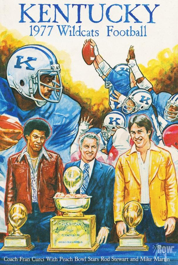 1977 Kentucky Football Poster  Print