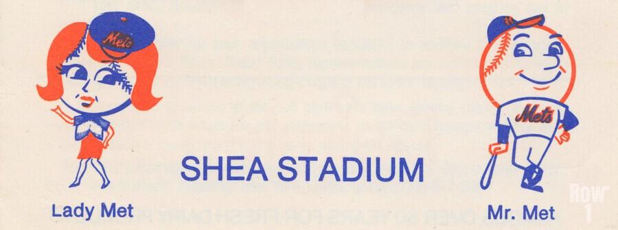 1977 new york mets art reproduction shea stadium retro baseball artwork row one brand  Print