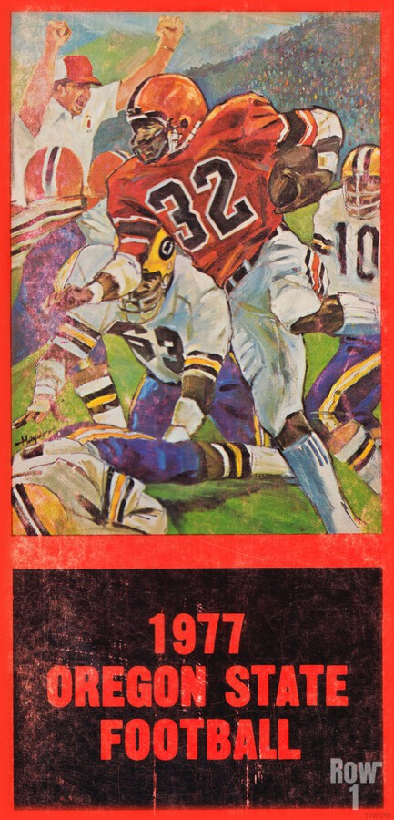 1977 Oregon State Football Art  Print
