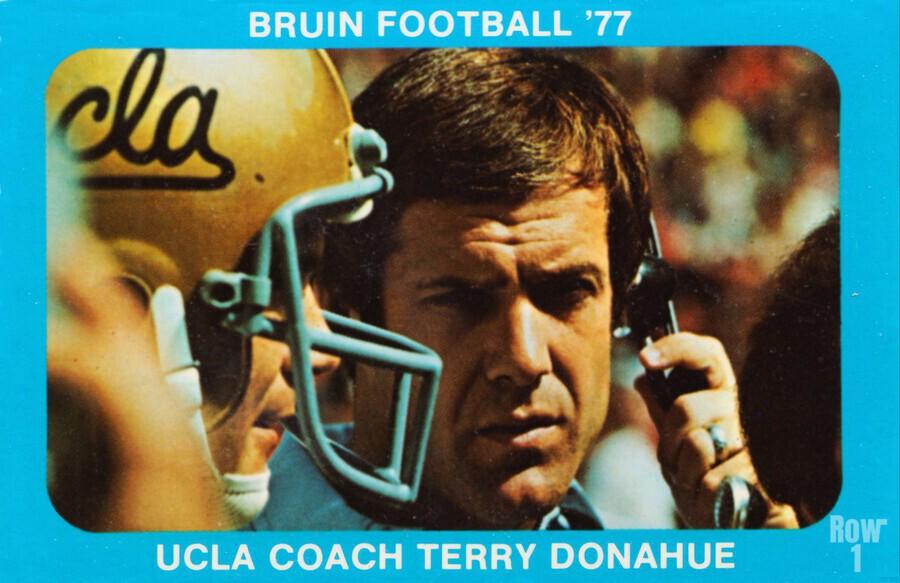 1977 UCLA Bruins Terry Donahue Football Poster  Print