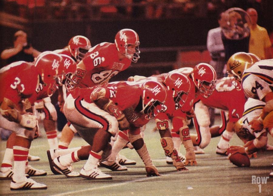 1977 UCLA vs. Houston Football Action  Print