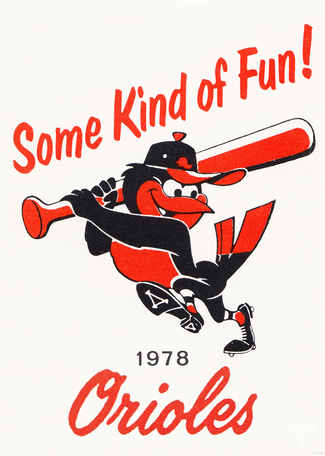 1978 Baltimore Orioles Some Kind of Fun Poster  Imprimer