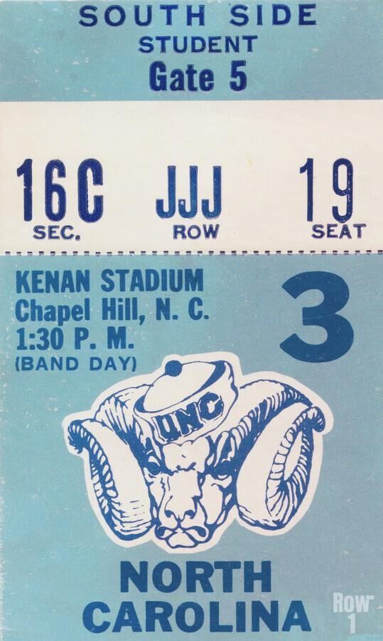 1978 North Carolina Student Ticket  Print