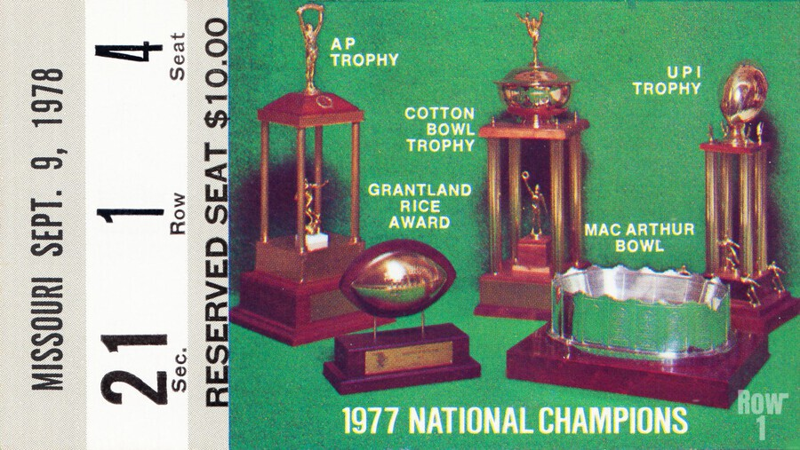 1978 notre dame football ticket stub prints  Print