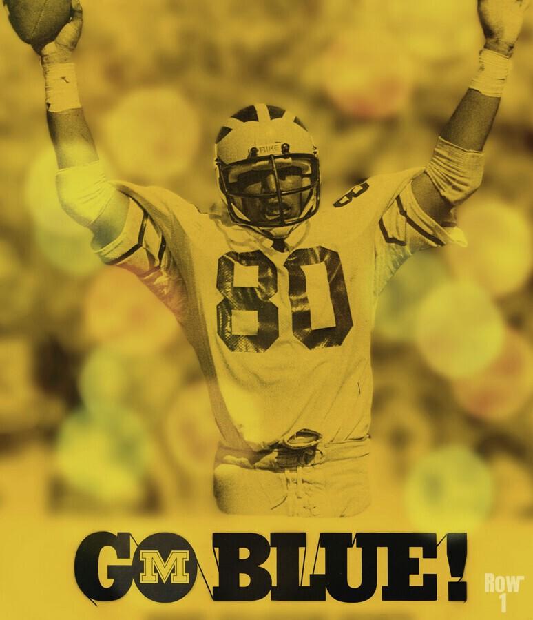 1979 michigan football go blue  Print