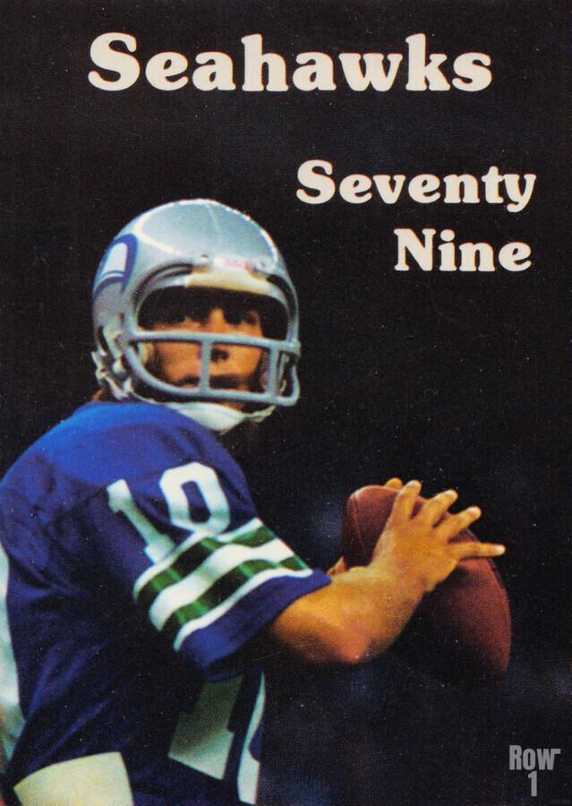 1979 Seattle Seahawks Jim Zorn Poster  Print