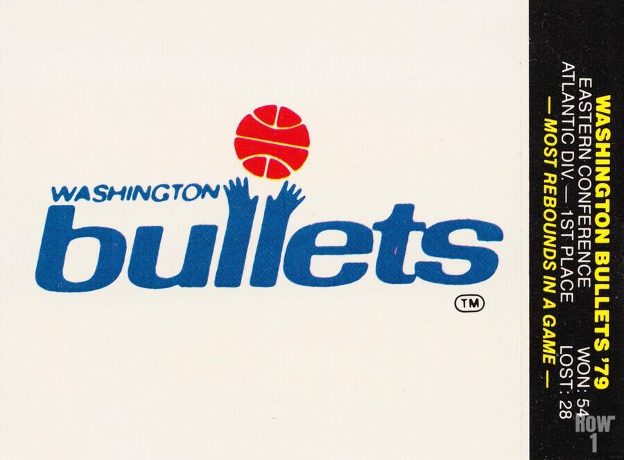 1979 Washington Bullets Fleer Decal   Print