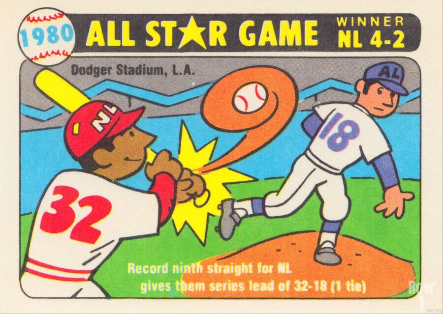 1980 Baseball All Star Game Art  Print