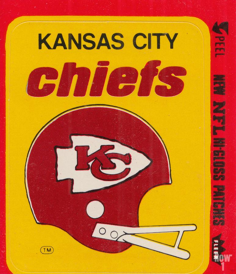 1980 Kansas City Chiefs Fleer Decal Art  Print
