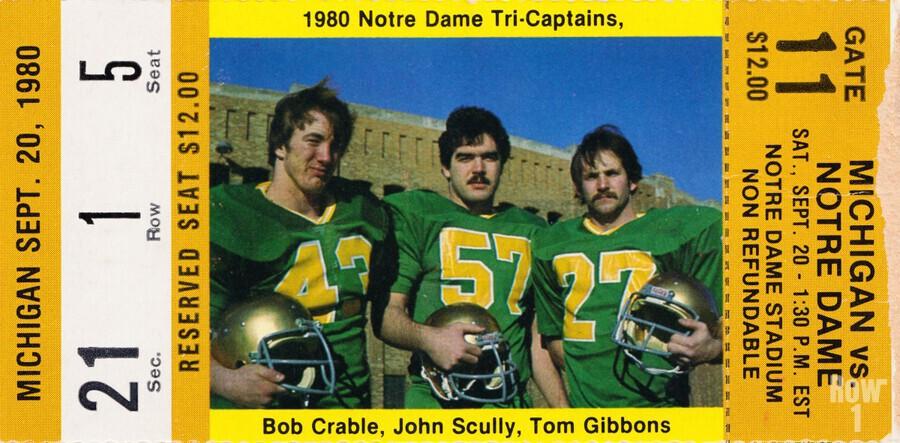 1980 Notre Dame vs. Michigan  Print
